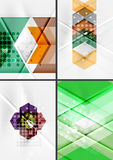 Set of angle and straight lines design abstract Stock Images