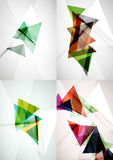 Set of angle and straight lines design abstract Royalty Free Stock Image