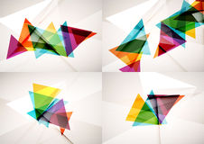 Set of angle and straight lines design abstract Stock Photos