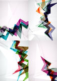Set of angle and straight lines design abstract Royalty Free Stock Photos