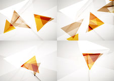Set of angle and straight lines design abstract Royalty Free Stock Photography