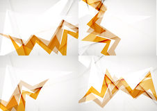 Set of angle and straight lines design abstract Royalty Free Stock Photo