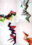 Set of angle and straight lines design abstract Stock Photo