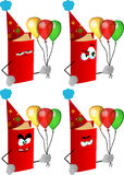 Set of angry birthday book Royalty Free Stock Photography