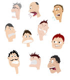 Set of angry faces Royalty Free Stock Photography