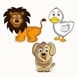 Set of animal and bird characters. Stock Photo