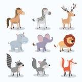 Set animal caricature of wildlife in white background. Vector illustration Stock Image