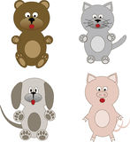 Set of animal cartoons Stock Image