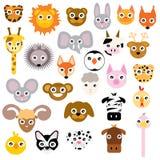 Vector Set Of Cute Cartoon Animals Isolated vector illustration