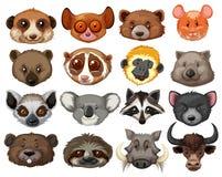 Set of animal heads. Illustration Stock Photo