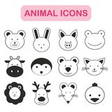Set of animal icon Royalty Free Stock Photos