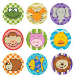 A set of animal icons. Or stickers Stock Photo