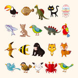 Set of animal icons Stock Images
