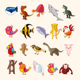 Set of animal icons Stock Image
