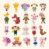 Set of animal icons. Cartoon vector illustration Vector Illustration