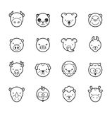 Set of animal icons Royalty Free Stock Photo