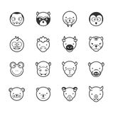 Set of animal icons Royalty Free Stock Photography