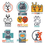 Set of animal labels and stickers Stock Photos