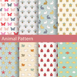 Set of animal seamless patterns. Ideal for baby design. Stock Photo