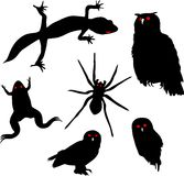 Set of animal silhouettes. Halloween set of animal silhouettes Stock Images