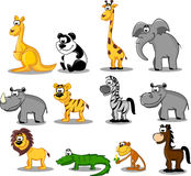 Set of animals in Africa royalty free illustration
