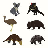 Set of animals australia. Flat style vector illustration