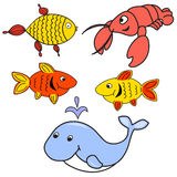 Set of animals for babies. Vector of multicolored different animals Stock Photography