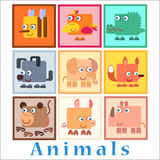 Set animals baby style Stock Photos