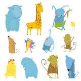 Set of Animals Cartoon Illustration Royalty Free Stock Photo