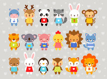 Set of  animals in cartoon style. Royalty Free Stock Photography