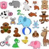 Set of animals. Cute colorful exotic animals collection Stock Images