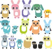 Set of animals figures Royalty Free Stock Photo