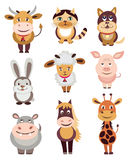Set of animals icons Stock Photo