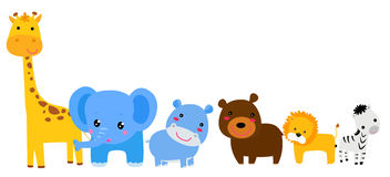 Set of animals. Illustration of set of animals Royalty Free Stock Image