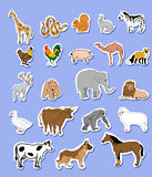 Set of animals  stickers Stock Photo