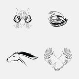 Set of animals tattoo. Stock Photos