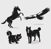 Set of animals Stock Photography
