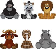 Set of animals. Vector illustration: set of funny animals Stock Images