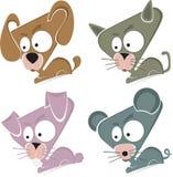 Set of 4 Animals Stock Image
