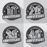 Set of Anniversary Celebration Design Royalty Free Stock Images