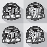 Set of Anniversary Celebration Design. Vector Royalty Free Stock Photography
