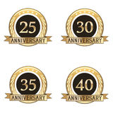 Set Of Anniversary Seals Stock Images