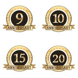 Set Of Anniversary Seals Stock Image