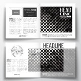 Set of annual report business templates for brochure, magazine, flyer or booklet. Abstract polygonal background, modern Royalty Free Stock Photo