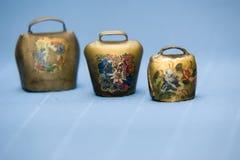Set of antique bells Royalty Free Stock Photos