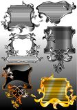 Set of antique, decorative vignettes. 01 (Vector) Stock Image