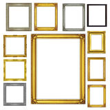 Set antique frame isolated on white background Royalty Free Stock Images