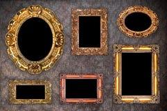 Set of antique frames Stock Images