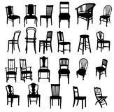 Set of antique furniture Royalty Free Stock Photos