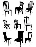 Set of antique furniture vector Stock Photo